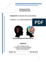 Proyecto Final Evaluacion de La Personalidad