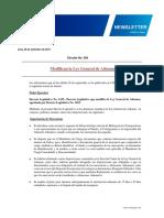 Modificaciones de La Ley Gral Aduanas