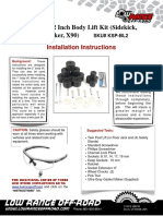 Low Range HD 2 Inch Body Lift Kit (Sidekick, GV, Vitara, Tracker, X90)