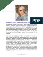 Diferencias Entre Aristóteles y Tomás de Aquino