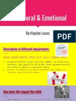 behavioral   emotional