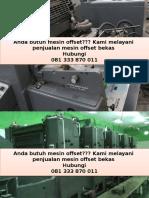 081 333 870 011 (Telkomsel) mesin cetak second