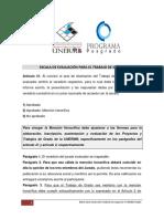 Reglamento_Escala de Evaluación Postgrado UNERMB