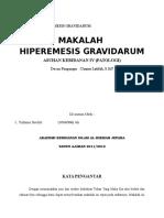 MAKALAH HIPEREMESIS GRAVIDARUM
