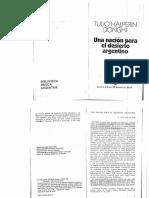 Halperin Donghi - Una Nacion Para El Desierto Argentino
