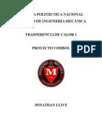 Transferencia de Calor Informe Comsol