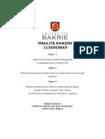 Maulita Khazini_Optimization of Water Resources