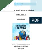 ensayo innovacion educativa