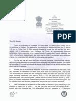 Udaipur Letters to Secretaries