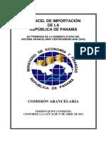 ARANCEL DE IMPORTACIÓN DE LA REPÚBLICA DE PANAMÁ