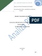 Analiza Produsului Intern Brut Al Romaniei in Perioada 1990-2008