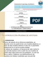 Expocicion UNIDAD 3; PRUEBAS DE HIPOTESIS