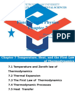 Chapter 7 Temperature and Zeroth Law New