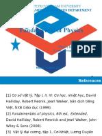 Chapter 1 Fundamental of Physics Pham Hong Quang