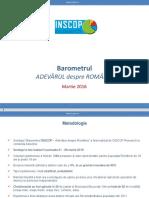 Inscop Raport Martie 2016 Încredere Instituții