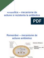 117681415 Antibiotice Mecanisme de Actiune Si Rezistenta La