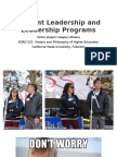 student leadership and programs ppt