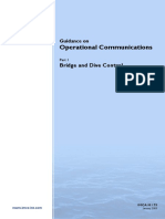 IMCAM175 Guidance on Operational Comms Bridge and Dive Control