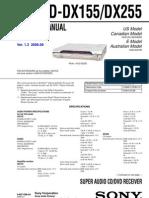 Hcd-dx155, Dx255 Sm