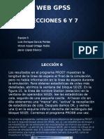 WebGPSS Lección 6 y 7