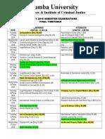 FEB. 2016 Exam Time Table