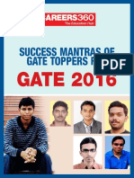 Success Mantras of GATE Toppers for GATE 2016