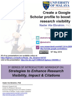 Create a Google Scholar profile to boost research visibility