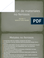 Producción de Materiales No Ferrosos
