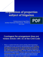 12. Acquisition of Properties Subject of Litigation