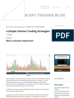 4 Simple Volume Trading Strategies
