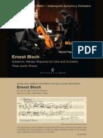 Zuill Bailey - Muhly Cello Concerto - Bloch Schelomo & 3 Jewish Poems