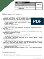 Ficha de Avaliação Diagnóstica - 4º Ano PORT I