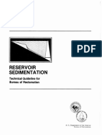 Reservoir Sedimentation - Technical Guidelines for USBR 10_1982