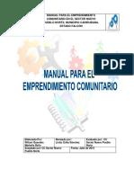 Manual de Emprendimiento Comunitario
