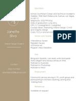 interior design portfolio resume