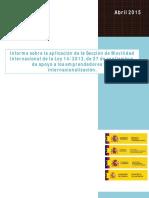 Informe Anual de La Seccion de Movilidad de La Ley 14 2013