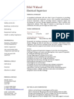 Electrician CV Template
