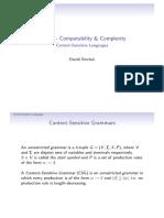 CA320 Context Sensitive Languages 2p