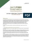 Resumo do estudo territorial de Manzaneda