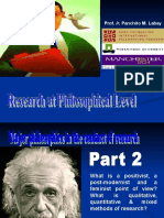 Methods of Research Chapter 3 Research at Philosophical Level .ppt