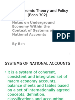 GDP and Underground Economy