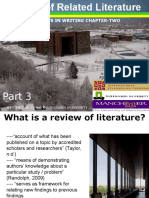 Methods of Research Chapter 11 Literature Review