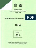 Naskah Soal SBMPTN 2014 Tes Kemampuan dan Potensi Akademik (TKPA) Kode Soal 612 by [pak-anang.blogspot.com].pdf