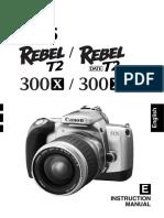 CANON Eos Rebel T2 Manual