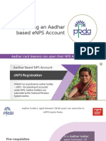 Opening an NPS Account using Adhaar via eNPS