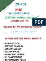 FAC1502 Debtors Control Notes