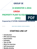 FAC1502 Property, Plant and Equipment Notes