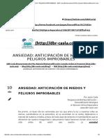 Ansiedad_ Anticipación de Miedos y Peligros Improbables - Dbr Casla Bioneuroemoción Pnl Hipnosis Biodescodificación Consulta Online & Presencial