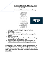 study guide for night final