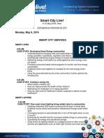 Smart City Live Agenda
